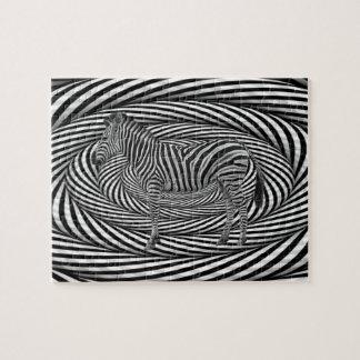 Zebra Dazzle Jigsaw Puzzle