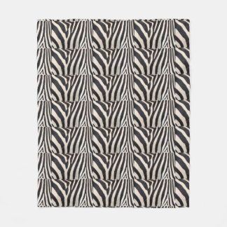 Zebra design blanket