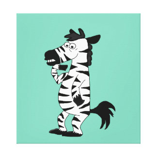 Zebra design matching stationery products canvas print