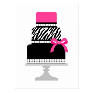 Zebra Diva Cake Postcard