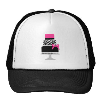 Zebra Diva Cake Trucker Hat