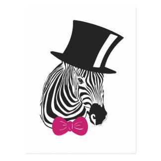 Zebra Elegant Unique Postcard