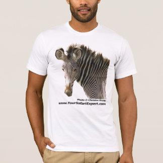 Zebra Face (front) - Zebra Butt (back) T-Shirt