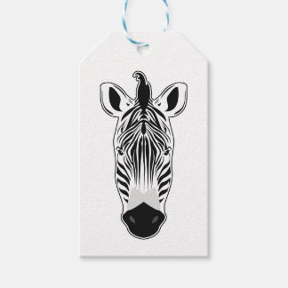 Zebra Face Gift Tags