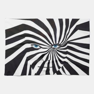 Zebra Face kitchen towel