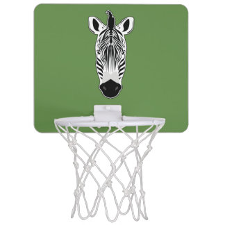 Zebra Face Mini Basketball Hoop