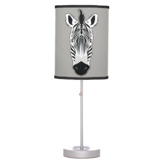 Zebra Face Table Lamp