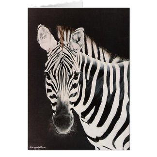 Zebra facing left card