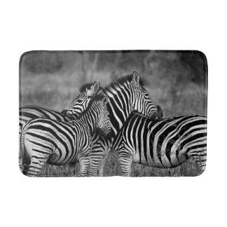 Zebra Family Bathroom Mat