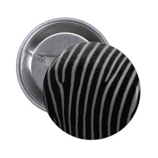 zebra Faux Fur Gifts 2 Inch Round Button