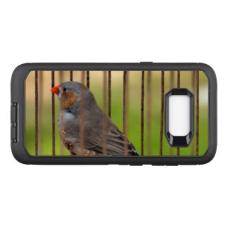 Zebra Finch Bird in Cage OtterBox Defender Samsung Galaxy S8+ Case