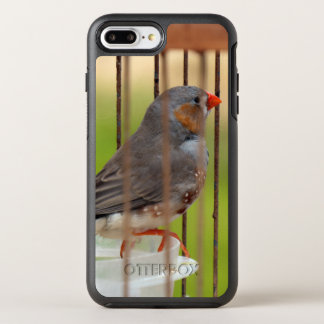 Zebra Finch Bird in Cage OtterBox Symmetry iPhone 8 Plus/7 Plus Case