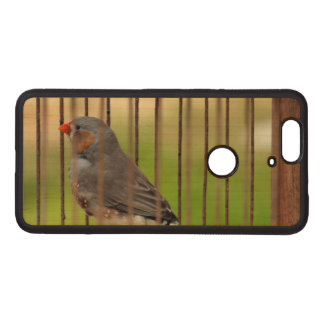 Zebra Finch Bird in Cage Wood Nexus 6P Case