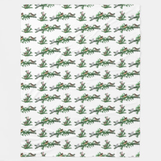 Zebra Finch Frenzy Fleece Blanket (Choose colour)