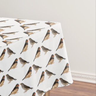 Zebra Finch Frenzy Tablecloth (choose colour)