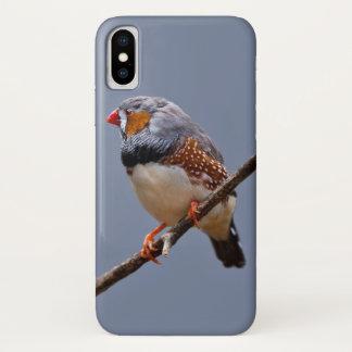 Zebra Finch iPhone X Case