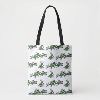 Zebra Finch Party All Over Print Bag(choose color) Tote Bag