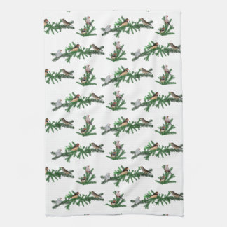 Zebra Finch Party Kitchen Towel (choose colour)