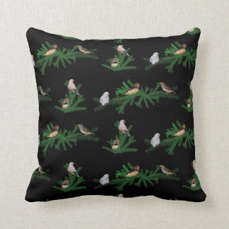 Zebra Finch Party Pillow (Black)