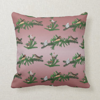 Zebra Finch Party Pillow (Dusty Pink Mix)