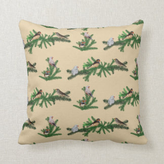 Zebra Finch Party Pillow (Gold)