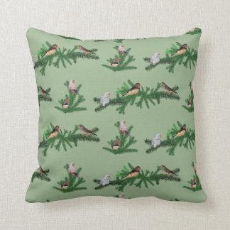 Zebra Finch Party Pillow (Green)