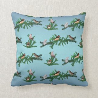 Zebra Finch Party Pillow (Sky Blue Mix)