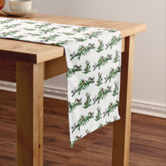 Zebra Finch Party Table Runner (choose colour)