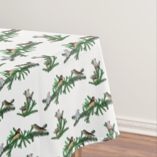 Zebra Finch Party Tablecloth (choose colour)