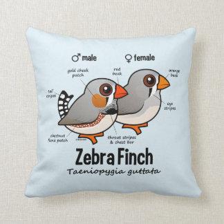 Zebra Finch Statistics Throw Pillow