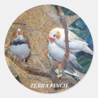 ZEBRA FINCH STICKERS