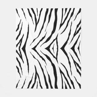 "Zebra Fleece Blanket, 50""x60"""