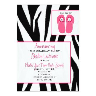 Zebra & Flip Flops 2012 Graduation Announcement