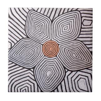 Zebra Flower Ceramic Tiles