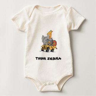 ZEBRA FRIENDS for BABY Baby Bodysuit