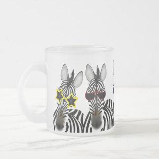 Zebra Frosted 10oz Frosted Glass Mug