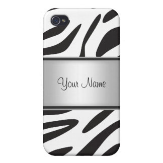 Zebra Fur I Case For iPhone 4