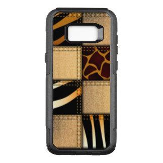 Zebra Giraffe Animal Jeans Collage OtterBox Commuter Samsung Galaxy S8+ Case