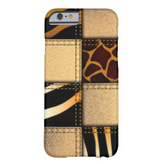 Zebra Giraffe Animal Print Jeans Collage Barely There iPhone 6 Case