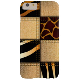 Zebra Giraffe Animal Print Jeans Collage Barely There iPhone 6 Plus Case