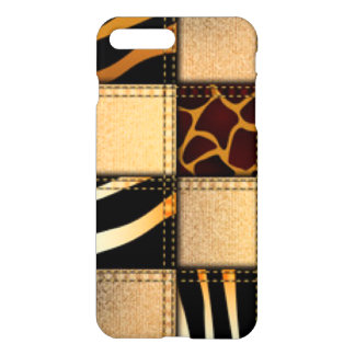 Zebra Giraffe Animal Print Jeans Collage iPhone 8 Plus/7 Plus Case