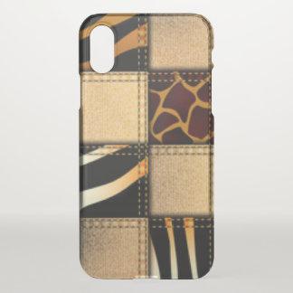 Zebra Giraffe Animal Print Jeans Collage iPhone X Case