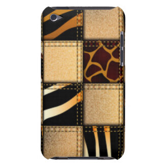Zebra Giraffe Animal Print Jeans Collage iPod Case-Mate Case