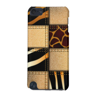 Zebra Giraffe Animal Print Jeans Collage iPod Touch (5th Generation) Cover