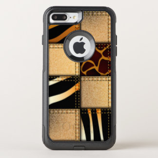 Zebra Giraffe Animal Print Jeans Collage OtterBox Commuter iPhone 8 Plus/7 Plus Case