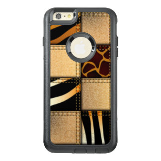 Zebra Giraffe Animal Print Jeans Collage OtterBox iPhone 6/6s Plus Case