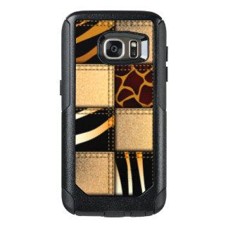 Zebra Giraffe Animal Print Jeans Collage OtterBox Samsung Galaxy S7 Case