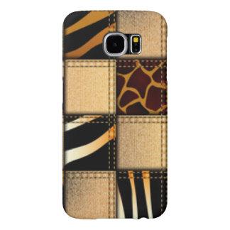 Zebra Giraffe Animal Print Jeans Collage Samsung Galaxy S6 Cases