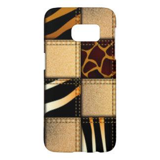 Zebra Giraffe Animal Print Jeans Collage Samsung Galaxy S7 Case