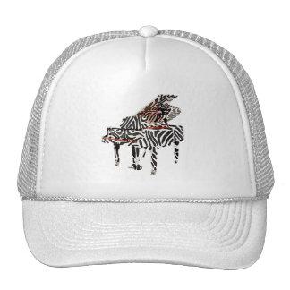 Zebra Grand Piano Trucker Hat